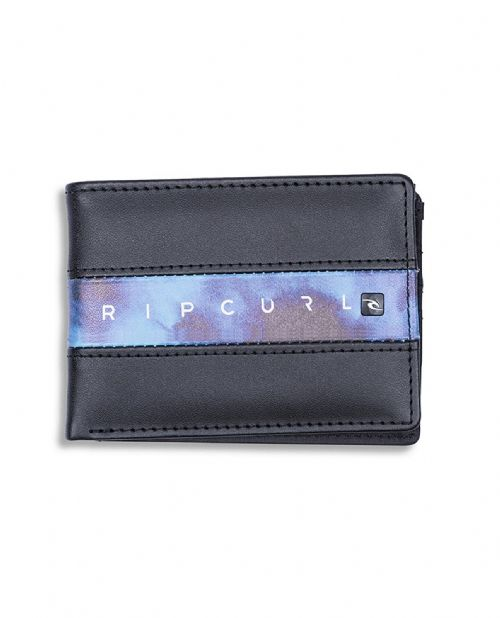 RIP CURL MENS WALLET.BLOCKADE SLIM BLACK FAUX LEATHER NOTE COIN PURSE 8W S2 70